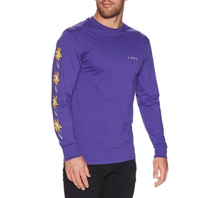 Vans Skull Flower Long Sleeve T-Shirt - Vans Purple