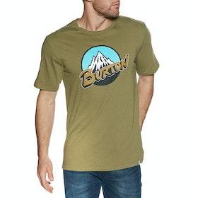 T-Shirt à Manche Courte Burton Retro Mountain - Martini Olive