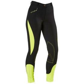 Firefoot Rawdon Two Tone Reflective Ladies Riding Breeches - Black Reflective Yellow