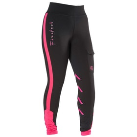 Firefoot Ripon Reflective Childrens Riding Breeches - Black Reflective Pink