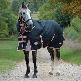 Weatherbeeta Comfitec Premier Therapy Tec Medium Detach A Neck Turnout Rug - Black Red Silver