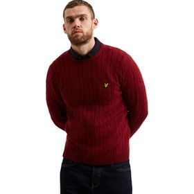 Lyle & Scott Cable Jumper Pullover - Claret Jug