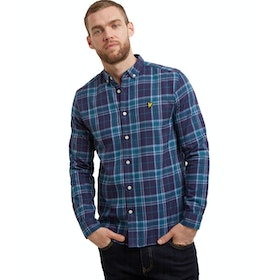 Lyle & Scott Check Flannel Hemd - Navy