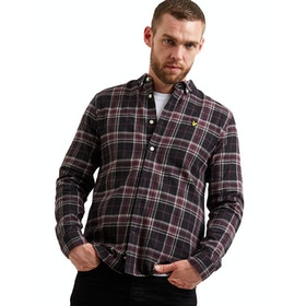 Lyle & Scott Check Flannel Hemd - True Black