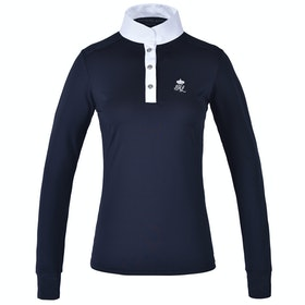 Kingsland Equestrian Timmins Long Sleeve Ladies Competition Shirt - Navy