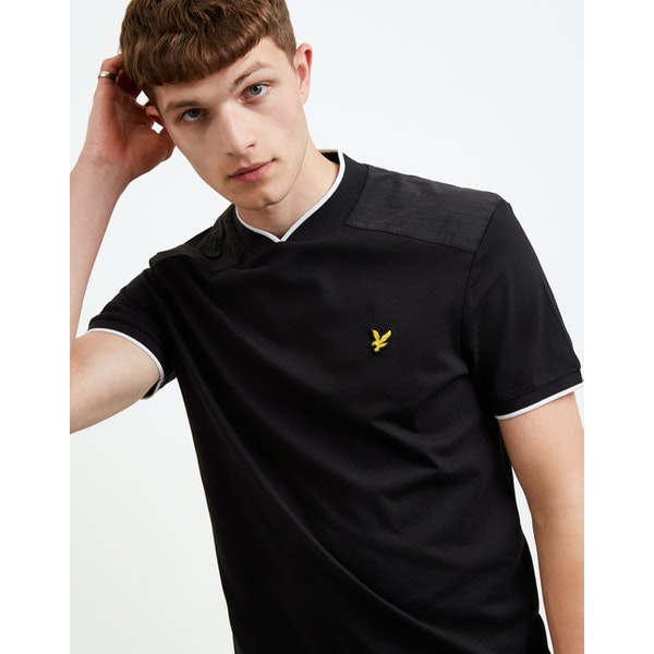 Lyle & Scott Nylon Panel T-Shirt Korte Mouwen