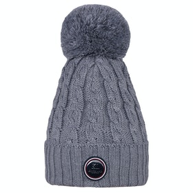 Kingsland Equestrian Iroquis Knitted Ladies Hat - Light Grey