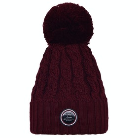 Kingsland Equestrian Iroquis Knitted Ladies Hat - Red Port Royal