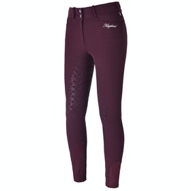 Kingsland Equestrian Kadi E Tec Full Grip Ladies Riding Breeches - Red Port Royal