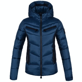 Kingsland Equestrian Nakina Insulated Hooded Ladies Riding Jacket - Blue Real Teal