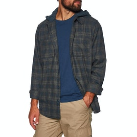 Hurley Crowley Washed Hooded Woven Shirt - Obsidian
