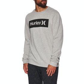 Hurley One & Only Boxed Crew Fleece Sweater - Grey Htr