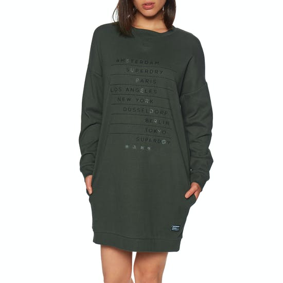 buy online 0fda9 f9b89 Superdry Vintage Crew Graphic Sweat Dress available from ...