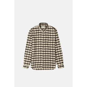 Maglietta Folk Relaxed Fit - Ecru Black Windowpane