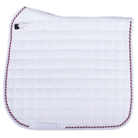 QHP Flags Saddle Pad - White Red Blue