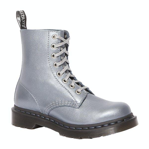 Dr Martens 1460 Pascal Gunmetal Metallic Damen Stiefel