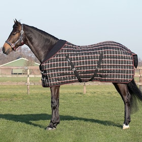 QHP Collection 150g Stable Rug - Black Check
