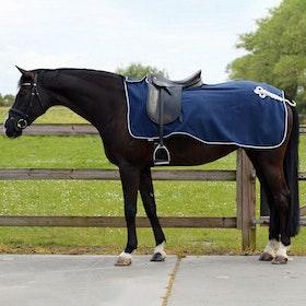 QHP Fleece Ornament Exercise Sheet - Blue Silver