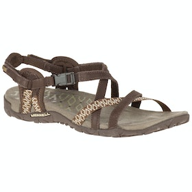Merrell Terran Lattice II Ladies Sandals - Dark Earth