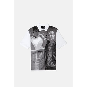 Polo Fred Perry *obsolete Oversized Print - White