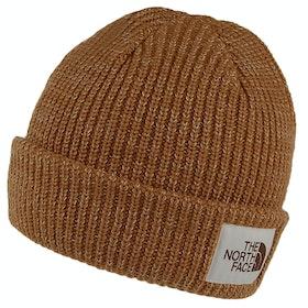 North Face Salty Dog Beanie - Cedar Brown Twill Beige