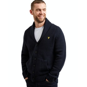 Lyle & Scott Shawl Neck Strickjacke - Dark Navy