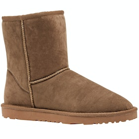 Derby House Pro Short Faux Sheepskin Ladies Boots - Tan