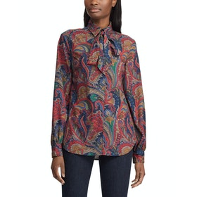 Lauren Ralph Lauren Haddox Long Sleeve Women's Shirt - Lauren Navy Multi