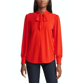 Lauren Ralph Lauren Nihany Long Sleeve Dames Top - Sporting Orange