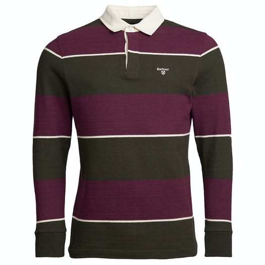 Barbour Lark Striped Rugby Top