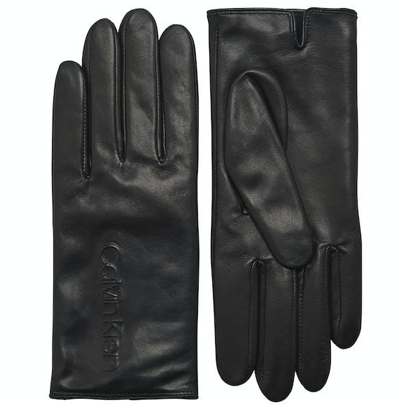 Calvin Klein Deboss Logo Leather Women's Gloves