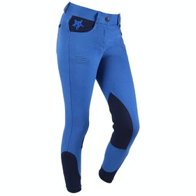 QHP Hanne Junior Girls Riding Breeches - Blue