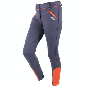 QHP Ice Girls Riding Breeches - Dark Grey