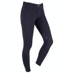 QHP Katie Anti slip Full Seat Ladies Riding Breeches - Black