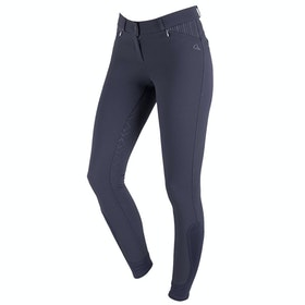 QHP Lindy Anti slip Full Seat Ladies Riding Breeches - Dark Grey