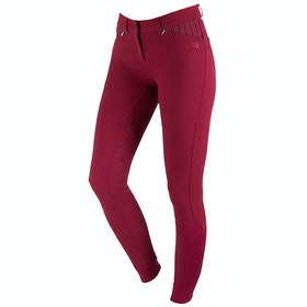 QHP Lindy Anti slip Full Seat Ladies Riding Breeches - Dark Red