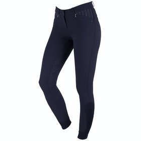 QHP Lindy Anti slip Full Seat Ladies Riding Breeches - Navy