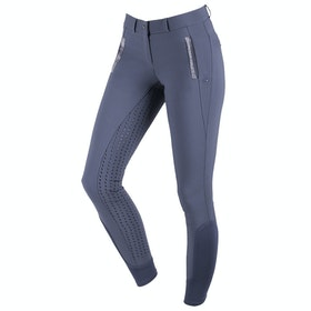 QHP Mellany Full Seat Ladies Riding Breeches - Dark Grey