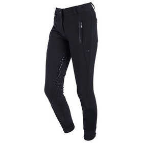 QHP Mellany Anti Slip Full Seat Riding Breeches - Black