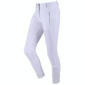 QHP Mellany Anti Slip Full Seat Girls Riding Breeches - White
