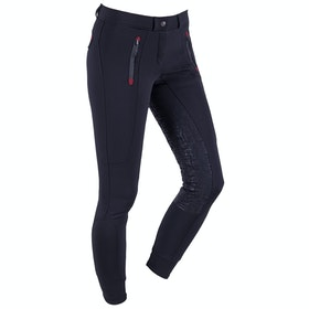 QHP Softshell Kamila Full Seat Ladies Riding Breeches - Black