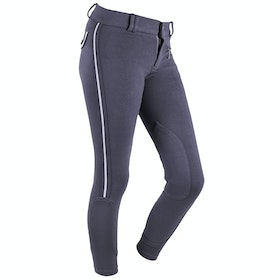 QHP Zalia Junior Girls Riding Breeches - Dark Grey