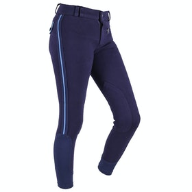 QHP Zalia Junior Girls Riding Breeches - Navy