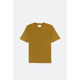 T-Shirt a Manica Corta Folk Contrast - Golden Yellow