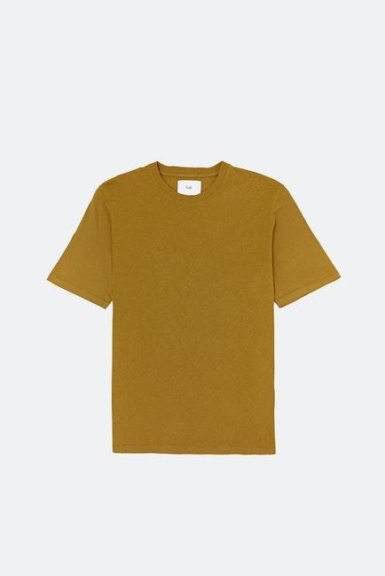 Folk Contrast Kurzarm-T-Shirt