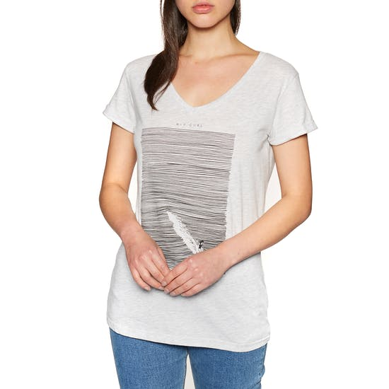 Rip Curl Minimalist Wave V Neck Short Sleeve T-Shirt
