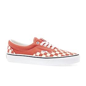 Vans Era Checkerboard Shoes - Emberglow True White