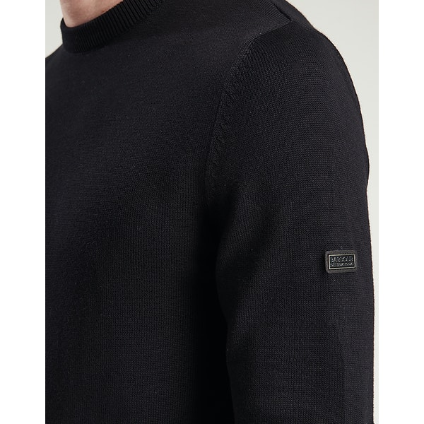 Barbour International Baffle Patch Crew Men's Sweater