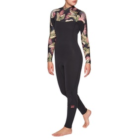 Billabong Furnace Comp 5/4mm Chest Zip Wetsuit - Black Palms