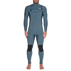 Billabong Furnace Revolution 4/3mm Chest Zip Wetsuit - Cascade Blue